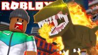 【Roblox恐龙大亨】侏罗纪世界霸王龙寻宝! 挖掘神秘恐龙蛋! 小格解说 乐高小游戏