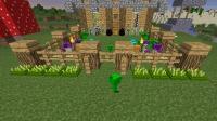 我的世界植物大战僵尸生存10: 种植地刺王, 摇身一变自己成了豌豆射手。