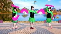 吕芳广场舞简单双扇舞《春天蝴蝶飞》正背面及分解动作