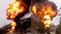 桂林一小型私人油库起火爆炸 腾起冲天蘑菇云