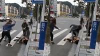 因在视频平台起冲突 女子遭人持钢管暴打