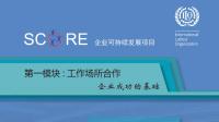 企业可持续发展项目(SCORE) :工作场所合作