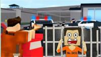 roblox虚拟世界 乐高方块人警车警车囚犯筱白解说