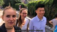 中国帅哥带两俄罗斯妹子吃鸽子, 妹子吃完不过瘾希望以后再去吃