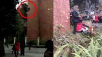 实拍14岁少女7楼顶跃下 已送医抢救