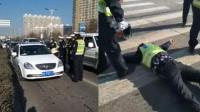 私家车冲卡撞翻交警逃逸当晚被抓