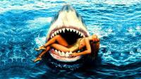 老烟斗看电影: 鲨鱼与美女之间难以启齿的故事, 几分钟看完科幻片《深海狂鲨》! #savage#