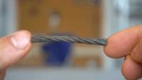 牛人切下一节钢缆, 一番改装后, 成品真是妙不可言!
