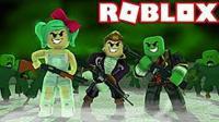 魔哒鹿子小泡roblox虚拟世界 乐高方块人使命召唤版丧尸围城突围