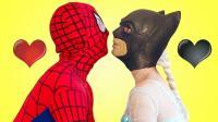 蜘蛛侠照顾小公主手忙脚乱 搞笑蜘蛛侠来了