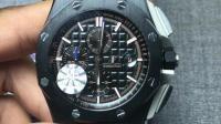 帅气的AP爱彼大熊猫26400计时陶瓷圈 百搭的腕表