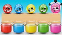 亮亮玩具砸蛋学习颜色, 汽车足球动画学英语, 婴幼儿宝宝亲子早教育儿过家家游戏视频739