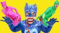 搞笑蜘蛛侠 奥莉被蝙蝠侠的蜘蛛咬伤