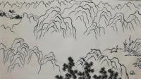 5小时学会国画线描山水, 画出五岳图: 中岳嵩山结构图