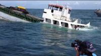 外国一名男子拍下沉船整个过程