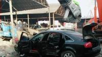 好好的奥迪车就这样报废了, 好可惜, 在二手市场能卖高价!