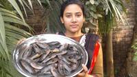美丽的印度女孩教你做乡村美食—爆炒黄花鱼!