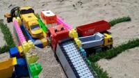 挖掘机与卡车动画玩具视频20