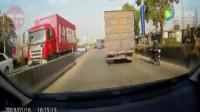 交通事故合集: 为躲避逆行的大货车开下了路坡
