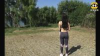 瑜伽老师的户外练习, 这身材也真是没谁了!