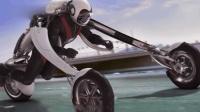 把摩托当衣服穿, 趴着飞奔, 3秒超100公里, 交警看的着急