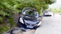 事故警世钟: 白色轿车变道被大货车拖行, 然后又刮擦了面包车真是够倒霉的277期