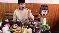 大胃王阿伦吃自助火锅, 看着就有食欲