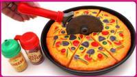 亲子游戏制作美味蔬菜披萨 披萨模型拼装玩具试玩