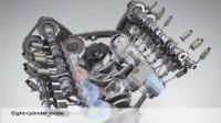 奥迪的V8发动机, 开启ECO模式, 就只用4缸跑, 怎么实现的?