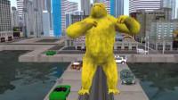 森林运动会亲子游戏之动物世界玩具动画视频乐园22