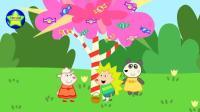 早教益智动画: 多莉到糖果树下接糖果