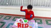 早教益智启蒙英文色彩动画: 超级英雄的孩子们种糖豆长出棒棒糖, 学习颜色