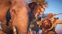 亚当熊 刺客信条起源18, 主角巴耶克大战埃及大象