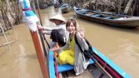 木下大胃王: 在越南搭船上湄公河顺流而下 听音乐 划船 吃美食