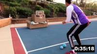 国外网友在自家院子中了一场规模盛大的技巧挑战赛, 保留了NBA全明星技巧挑战赛的原项目