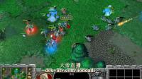 【没有输出点】魔兽争霸大帝解说 TH000+Fly vs Infi+TeD 4 GS