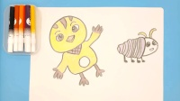 萌鸡小队麦奇 儿童学画画卡通简笔画绘画教程 亲子益智绘画互动游戏小课堂