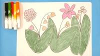 花儿怎么画? 儿童学画画卡通简笔画绘画教程 亲子益智绘画互动游戏小课堂