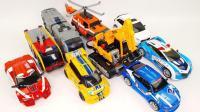 变形玩具机器人还原成赛车玩具