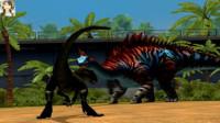 侏罗纪世界游戏迅猛鳄龙恐龙公园筱白解说