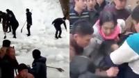 景区游玩遇雪崩 两孩子被滑落积雪埋压