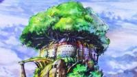彩铅手绘视频教程—天空之城线稿 1