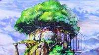 彩铅手绘风景视频教程—天空之城色稿2