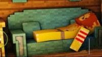 我的世界小本之大海解说怪物学院籽岷真人版神奇宝贝动画片小本解说幸运方块 花大力我的世界起床战争床被偷了还是一样的赢