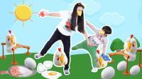 131  你能保护几个鸡宝宝?帮母鸡妈妈救回鸡蛋 儿童运动健身趣味玩具LayItorBreakIt