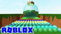 [宝妈趣玩]Roblox201 史莱姆复仇游戏★大军来袭, 奋勇抵抗! 飞碟BOSS如何对付?