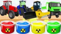 儿童益智早教动画 卡车火车拖拉机染色