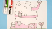 如何画小鹿杏仁儿的房子? 卡通画儿童画简笔画亲子互动涂鸦益智游戏学画画课堂