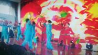 南国都市广场舞长扇手绢舞《红红火火大中华》