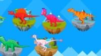 侏罗纪总动员第50期★恐龙世界恐龙家园勇闯恐龙岛赖氏龙恐龙救援队★东哥品人生游戏解说